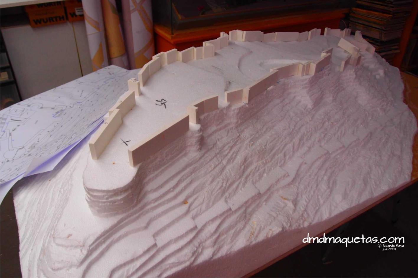 Realización maqueta Castillo Almería