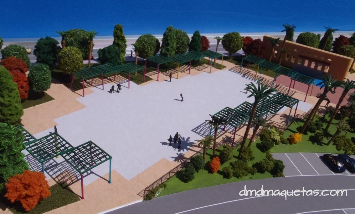Maqueta del parque central de benahadux dmd maquetas for Maquetas de jardines