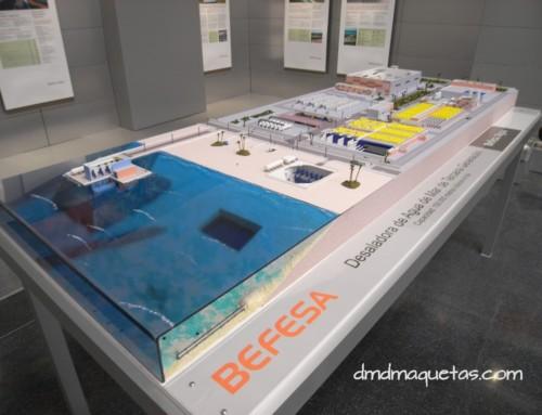 """Maqueta de desaladora de """"Tercera Generación"""" BEFESA"""