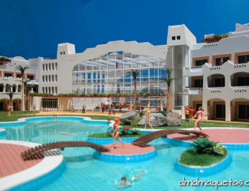 Maqueta de Hotel Alcazaba-Mar